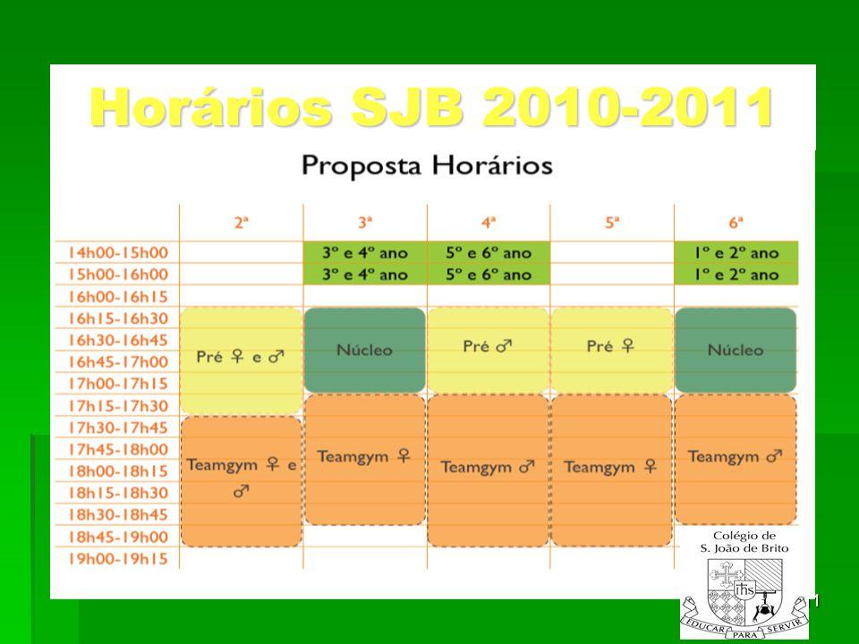 11 Horários SJB 2010-2011