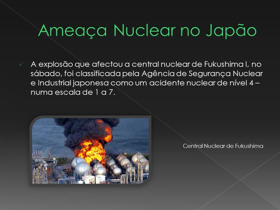 A explosão que afectou a central nuclear de Fukushima I, no sábado, foi classificada pela Agência de Segurança Nuclear e Industrial japonesa como um a