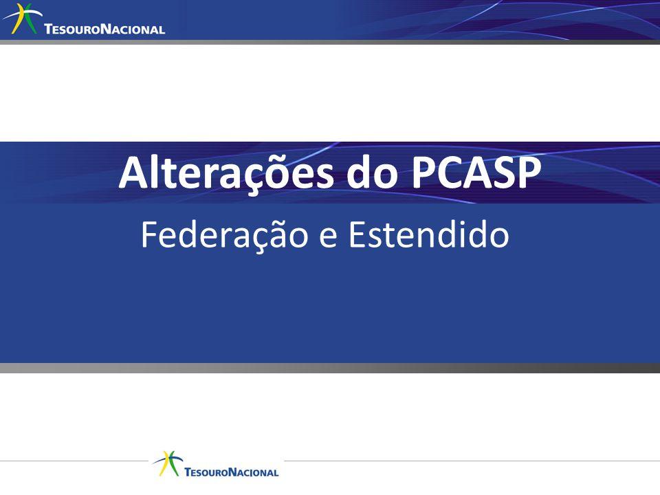Alterações do PCASP Federação e Estendido