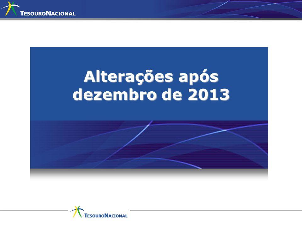 Alterações após dezembro de 2013
