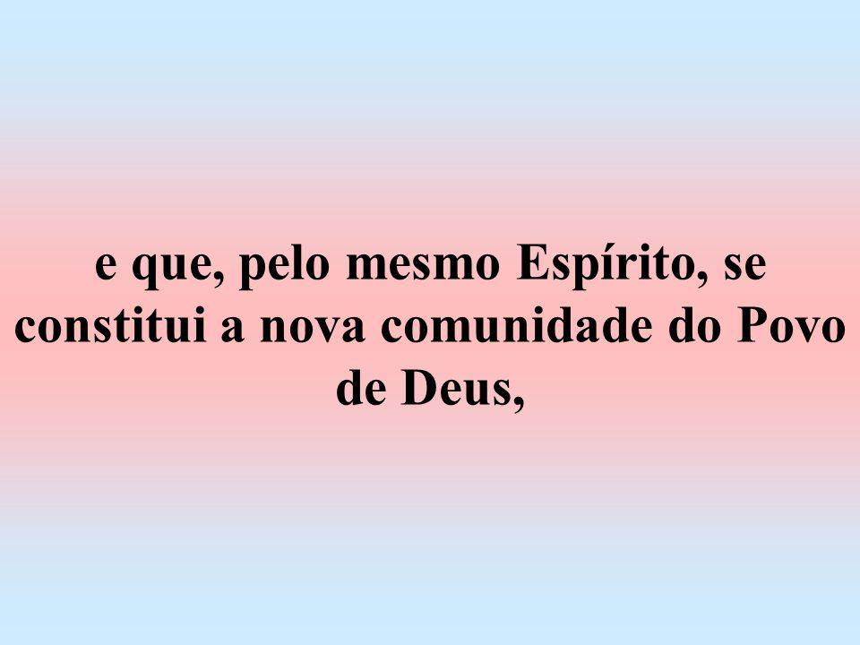 e que, pelo mesmo Espírito, se constitui a nova comunidade do Povo de Deus,