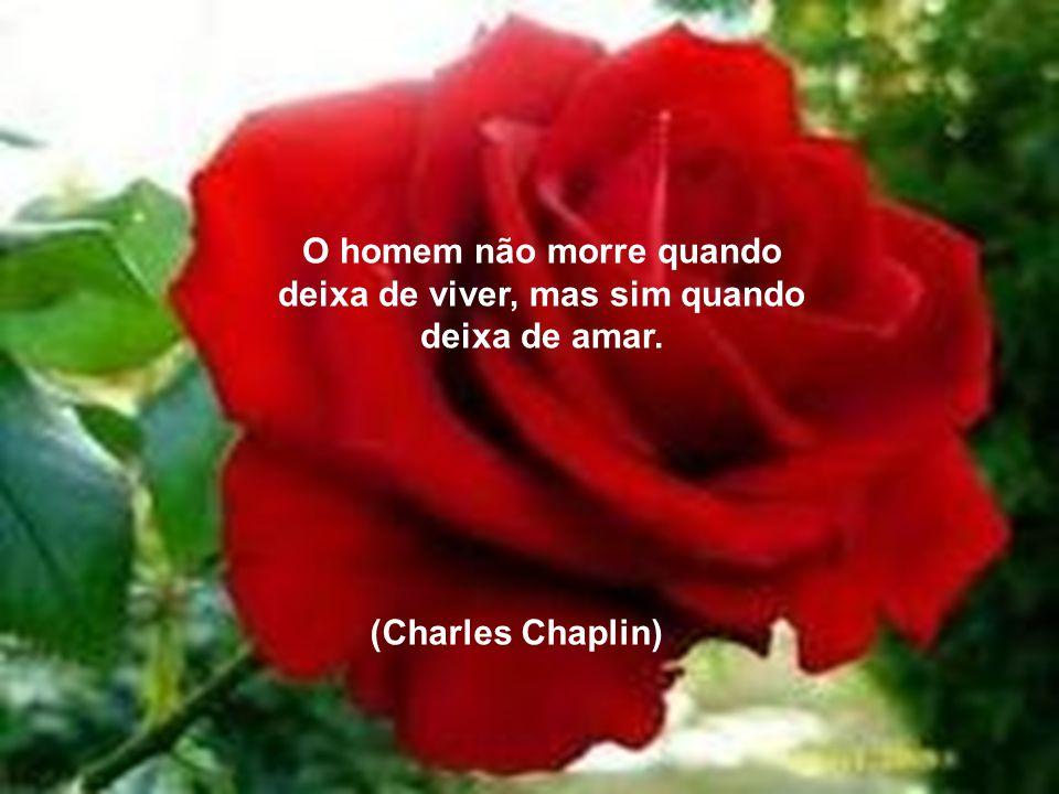 O homem não morre quando deixa de viver, mas sim quando deixa de amar. (Charles Chaplin)