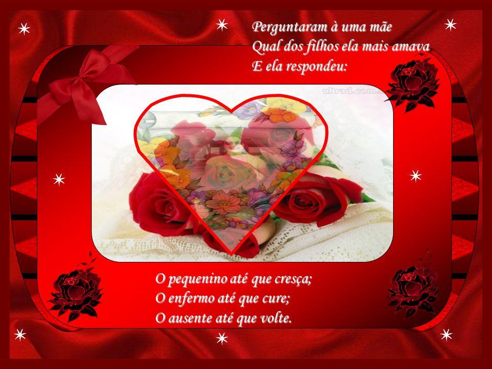 Mãe, tão puro amor de mãe, Que as vezes não me vêm Palavras pra expressar, Mãe, pra ti conjugo o verbo...amar