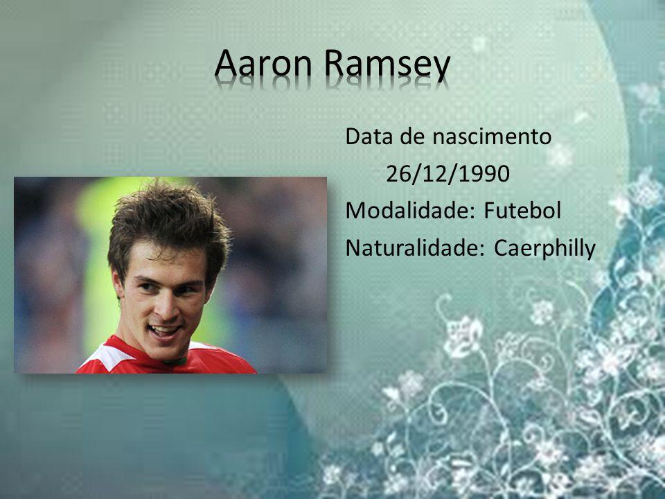 Data de nascimento 26/12/1990 Modalidade: Futebol Naturalidade: Caerphilly