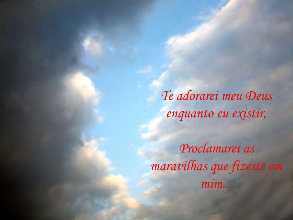 Te adorarei meu Deus enquanto eu existir, Proclamarei as maravilhas que fizeste em mim...
