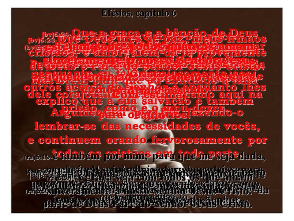 (bv)6:11- Vistam-se de toda a armadura de Deus, a fim de que possam permanecer a salvo das táticas e das artimanhas de Satanás. (ra)6:11- Revesti-vos