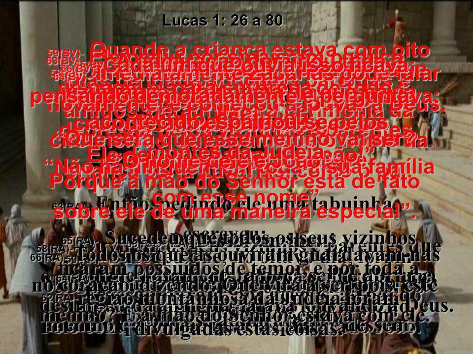 41(BV)- Ao soar a saudação de Maria, a criança de Isabel saltou dentro dela, e ela ficou cheia do Espírito Santo. 41(RA)- Ouvindo esta a saudação de M