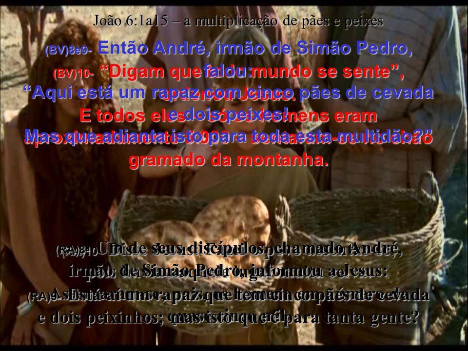 (BV)6- (Ele estava experimentando Filipe, porque já sabia o que ia fazer.) (RA)6- Mas dizia isto para o experimentar; porque ele bem sabia o que estava para fazer.