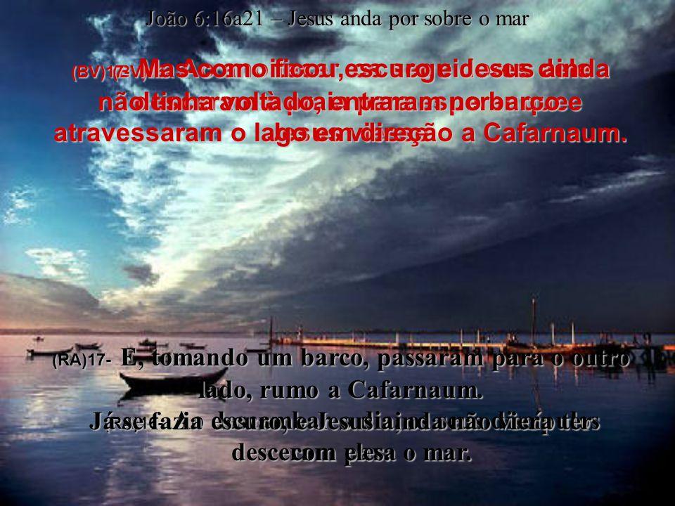 João 6:1a15 – a multiplicação de pães e peixes (BV)12- Agora juntem as sobras, disse Jesus aos seus seguidores, para que não se perca nada.