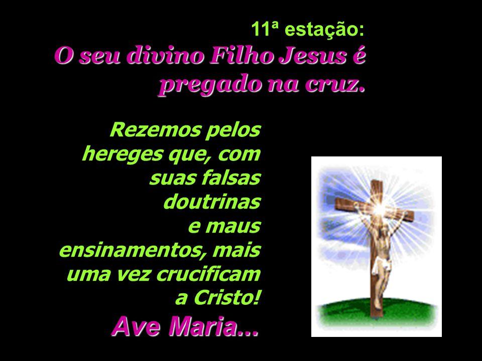 E Maria vai enumerando, juntamente com seu divino Filho, toda espécie de pecados e crimes horrendos da humanidade. Glória ao Pai...