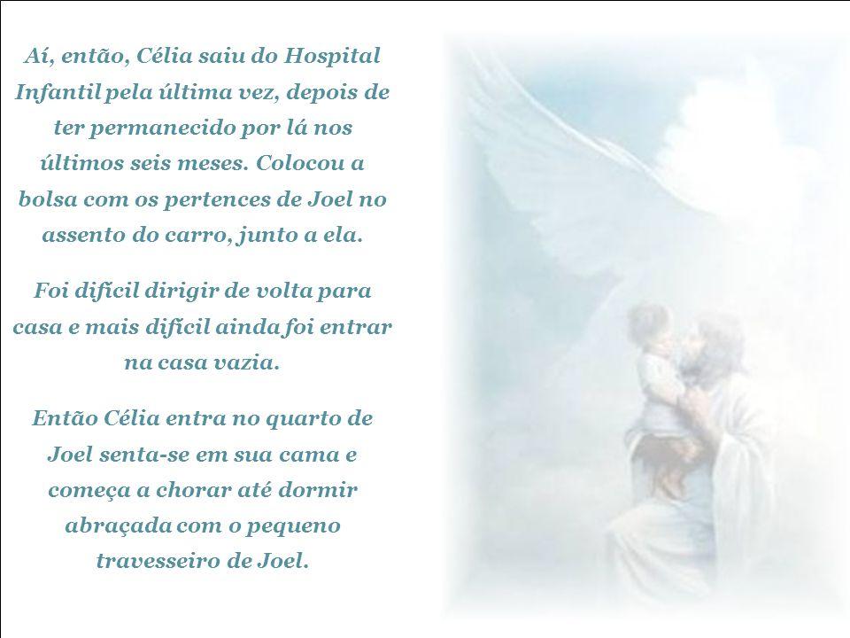 A enfermeira cortou uma mecha, colocou em uma bolsinha de plástico e entregou a Célia. Aí Célia explicou à enfermeira:
