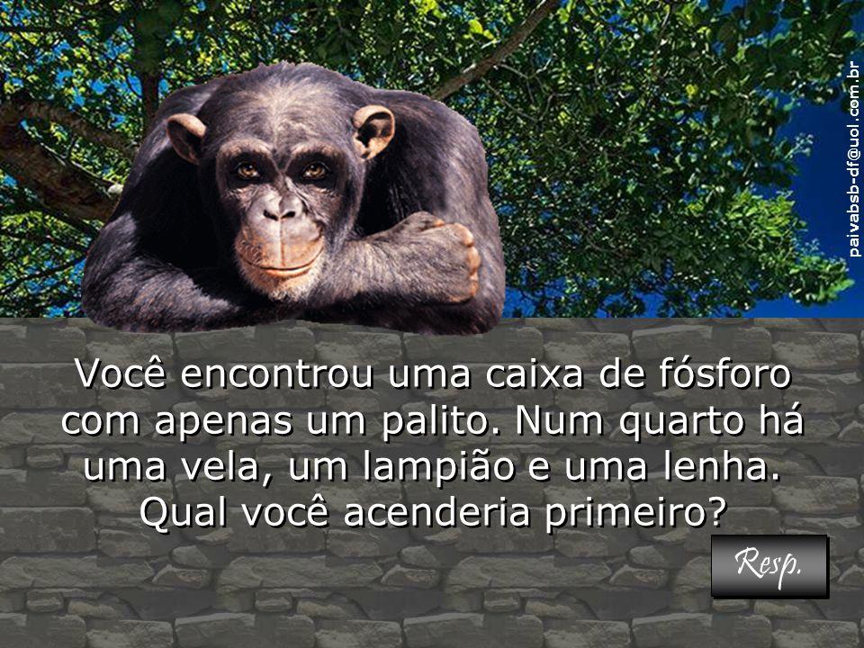 paivabsb-df@uol.com.br Você encontrou uma caixa de fósforo com apenas um palito.
