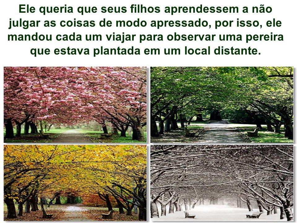 14 4 O primeiro filho foi no Inverno, o segundo na Primavera, o terceiro no Verão e o quarto e mais jovem, no Outono.