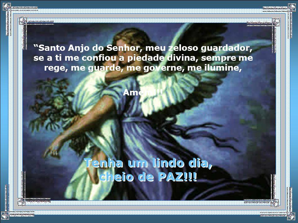 Sou seu Anjo da Guarda, que acredita em você! Sou seu Anjo da Guarda, que acredita em você! Ore... Agradeça, e peça... Ele está aí com você, lhe ouvin