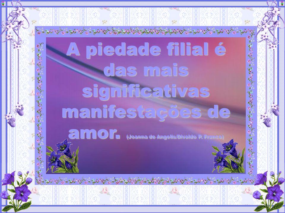 A piedade filial é das mais significativas manifestações de amor.