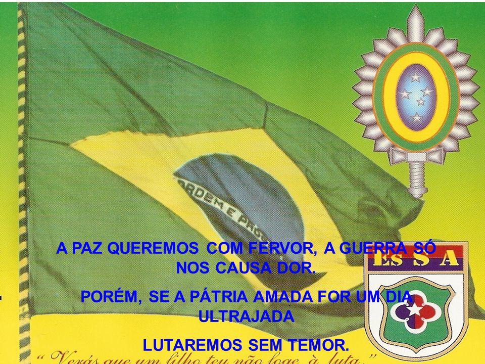 E assim ao Brasil faremos oferta igual de amor filial E a ti, Pátria, salvaremos, rebrilha a glória Fulge a Vitória!