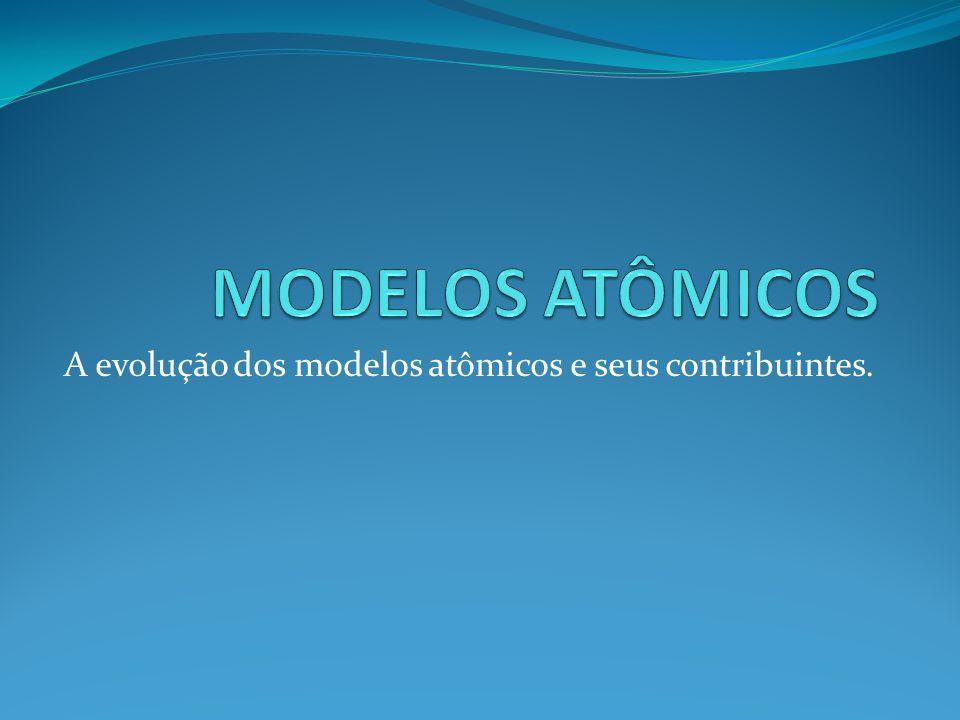 TEORIAS ATÔMICAS Na história, se definem duas teorias atômicas: TEORIA ATÔMICA CLÁSSICA: Modelos atômicos de Dalton, Thomson e Rutherford.