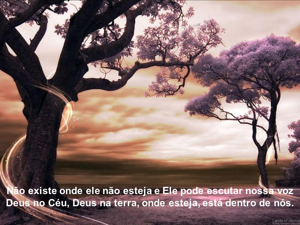 É tão lindo falar com Deus, em qualquer momento Deus que vê uma folha que cai e é levada ao vento