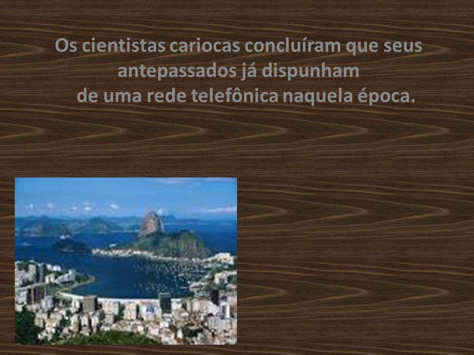 Durante escavações nos estado do Rio de Janeiro, arqueólogos fluminenses descobriram, a 100 m de profundidade, vestígios de fios de cobre que datavam do ano 1000 dC.