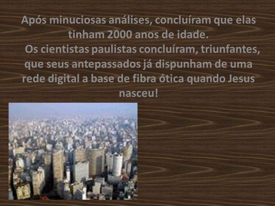 Os paulistas, para não ficarem para trás, escavaram também seu subsolo, encontrando restos de fibras óticas a 200 m de profundidade.