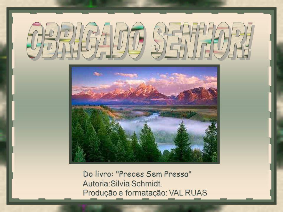 Do livro: Preces Sem Pressa Autoria:Silvia Schmidt. Produção e formatação: VAL RUAS