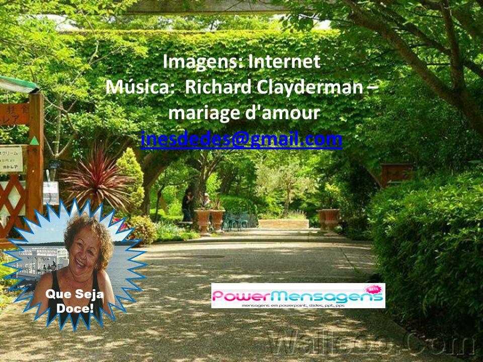 Imagens: Internet Música: Richard Clayderman – mariage d amour inesdedes@gmail.com