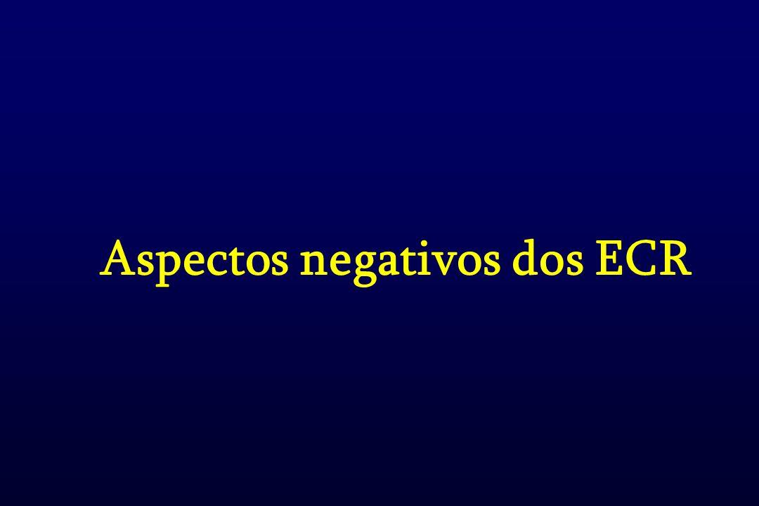 Aspectos negativos dos ECR