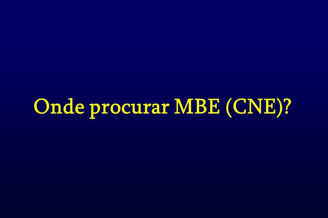 Onde procurar MBE (CNE)