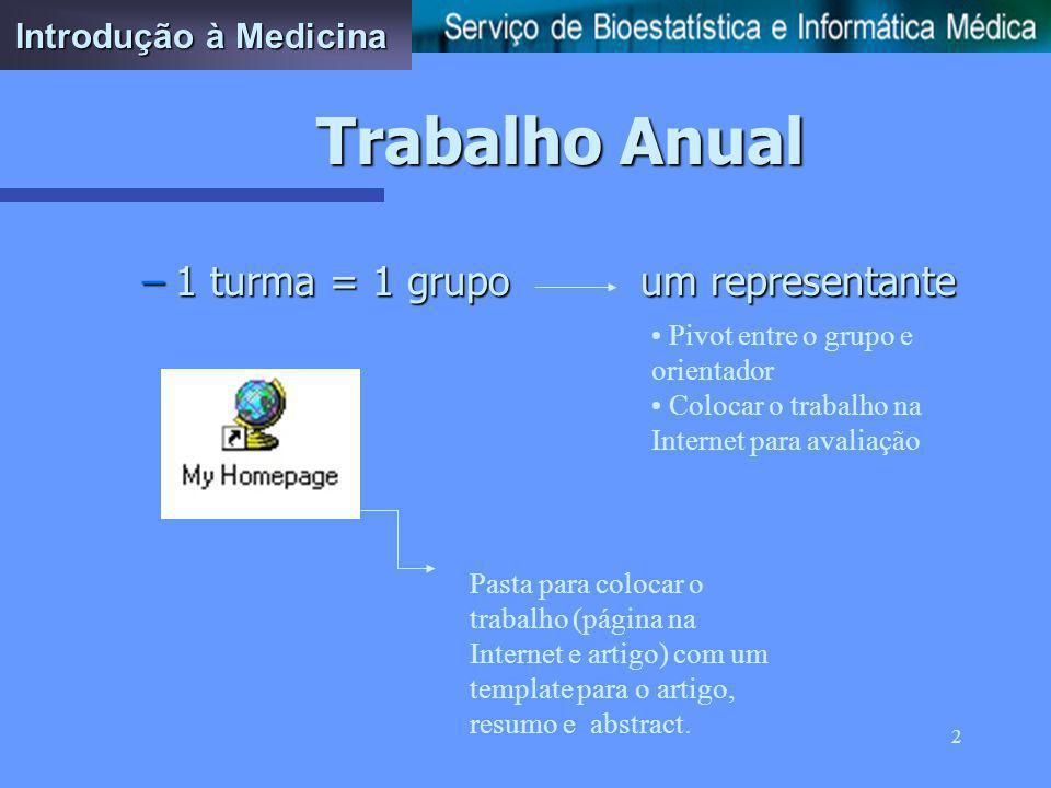 1 Trabalho Anual Introdução à Medicina