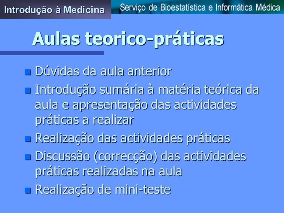 Aulas teorico-práticas Introdução à Medicina
