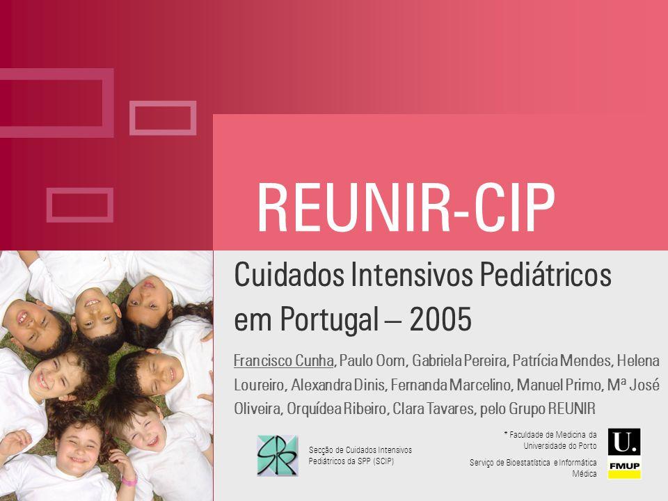 Cuidados Intensivos Pediátricos em Portugal – 2005 Francisco Cunha, Paulo Oom, Gabriela Pereira, Patrícia Mendes, Helena Loureiro, Alexandra Dinis, Fe