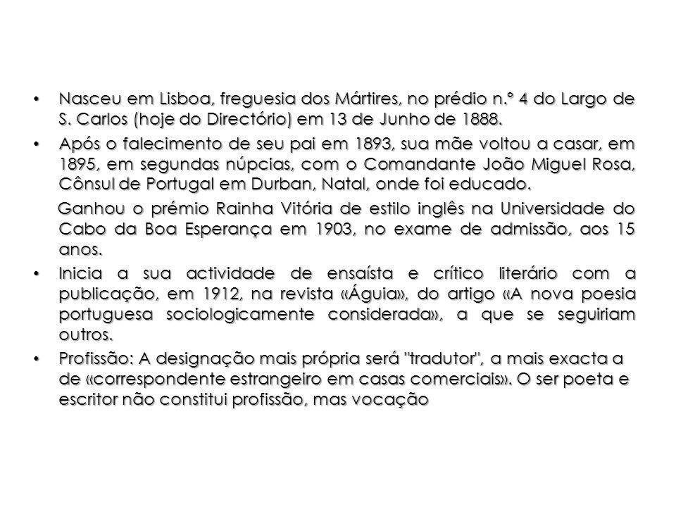 Nasceu em Lisboa, freguesia dos Mártires, no prédio n.º 4 do Largo de S. Carlos (hoje do Directório) em 13 de Junho de 1888. Nasceu em Lisboa, fregues