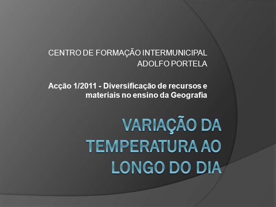 CENTRO DE FORMAÇÃO INTERMUNICIPAL ADOLFO PORTELA Acção 1/2011 - Diversificação de recursos e materiais no ensino da Geografia