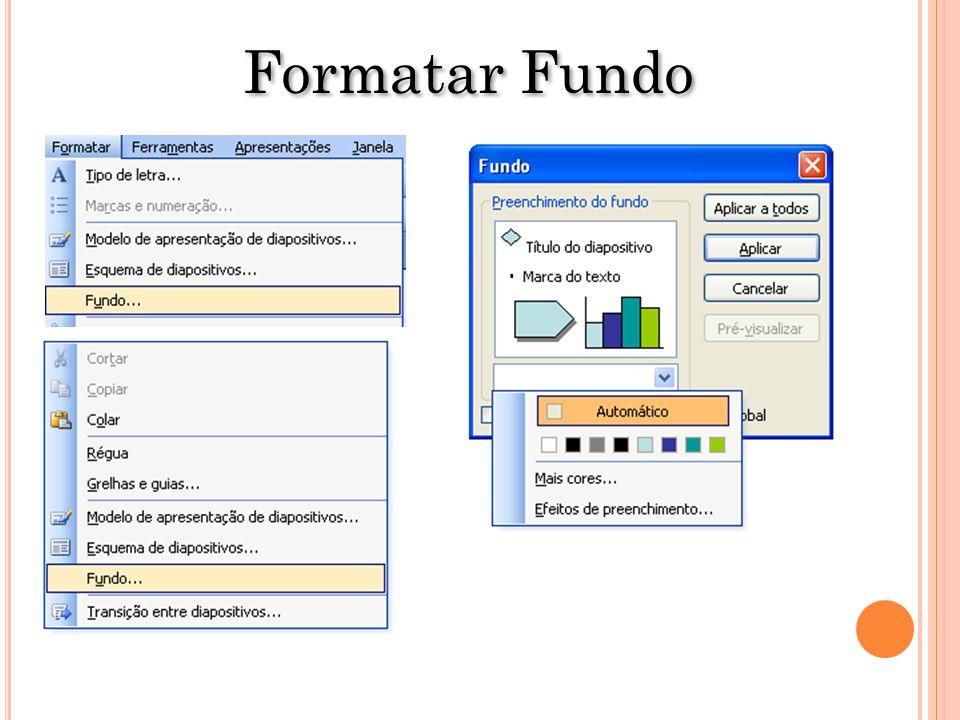 Formatar Fundo