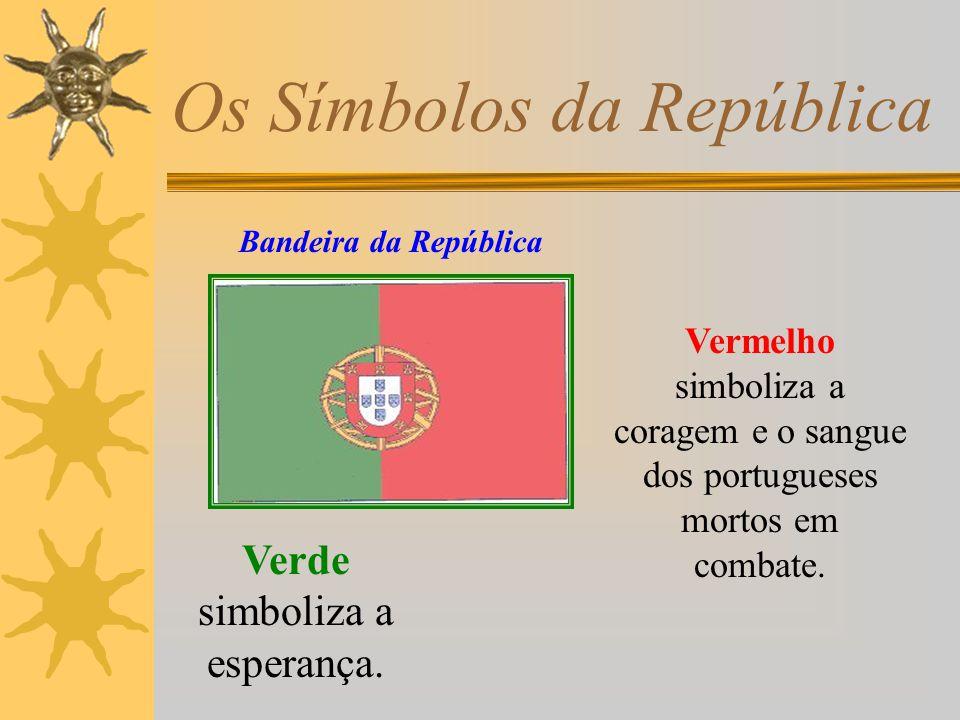 Os Símbolos da República Dentro das quinas estão as cinco chagas de Cristo.