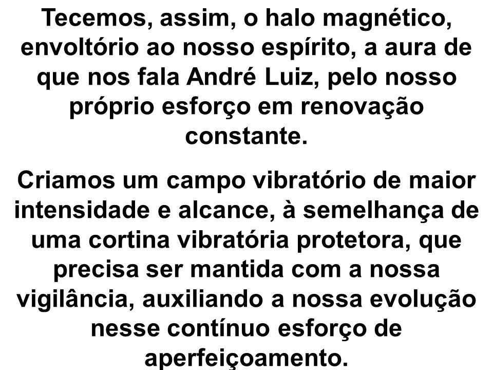 Tecemos, assim, o halo magnético, envoltório ao nosso espírito, a aura de que nos fala André Luiz, pelo nosso próprio esforço em renovação constante.