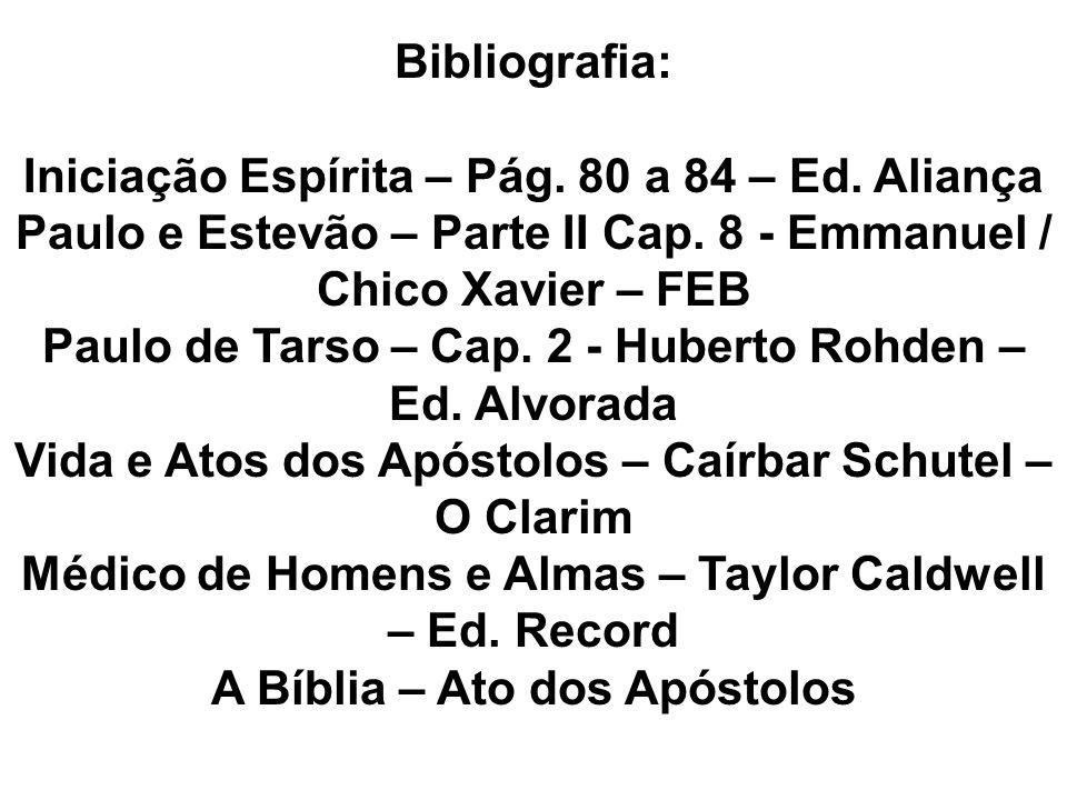 Bibliografia: Iniciação Espírita – Pág.80 a 84 – Ed.