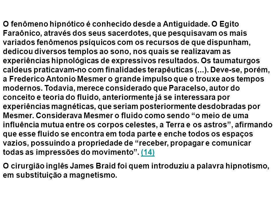 O fenômeno hipnótico é conhecido desde a Antiguidade.