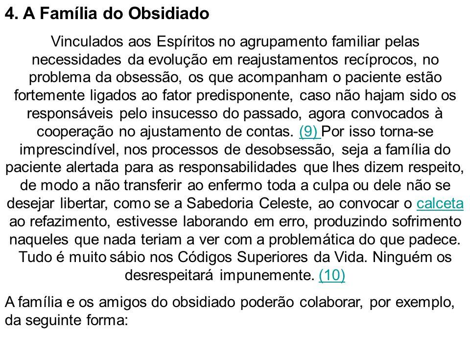 4. A Família do Obsidiado Vinculados aos Espíritos no agrupamento familiar pelas necessidades da evolução em reajustamentos recíprocos, no problema da