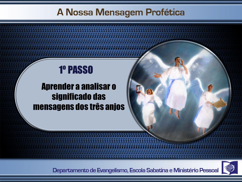 1º PASSO Aprender a analisar o significado das mensagens dos três anjos