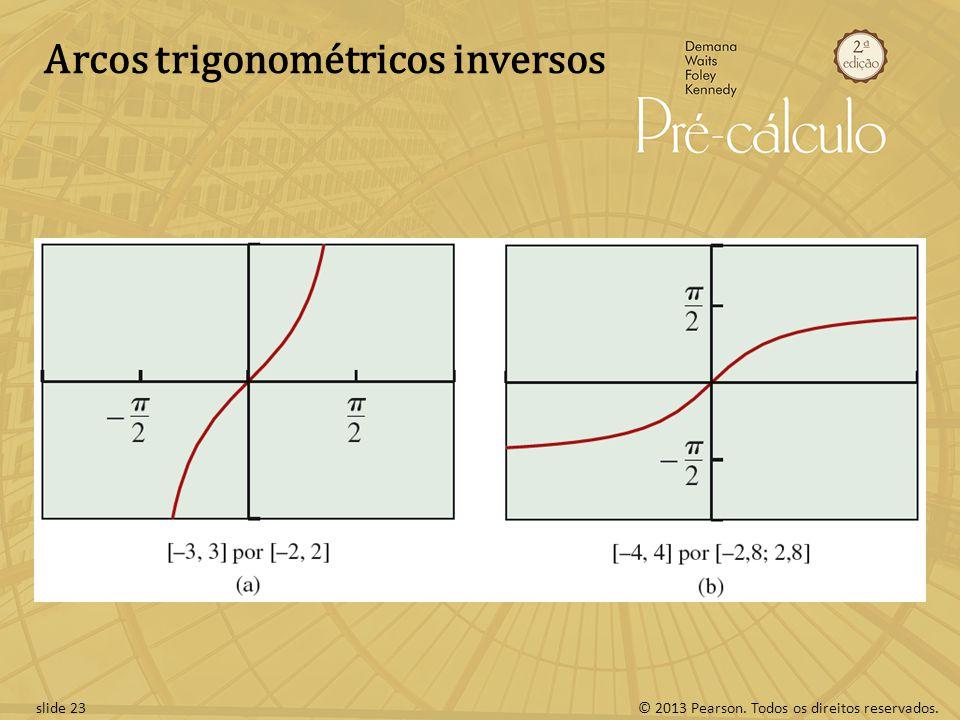 © 2013 Pearson. Todos os direitos reservados.slide 23 Arcos trigonométricos inversos