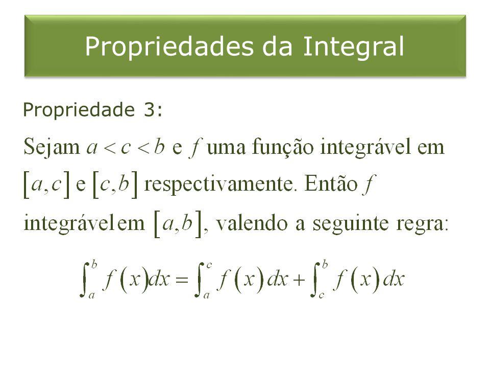 Propriedades da Integral Propriedade 3: