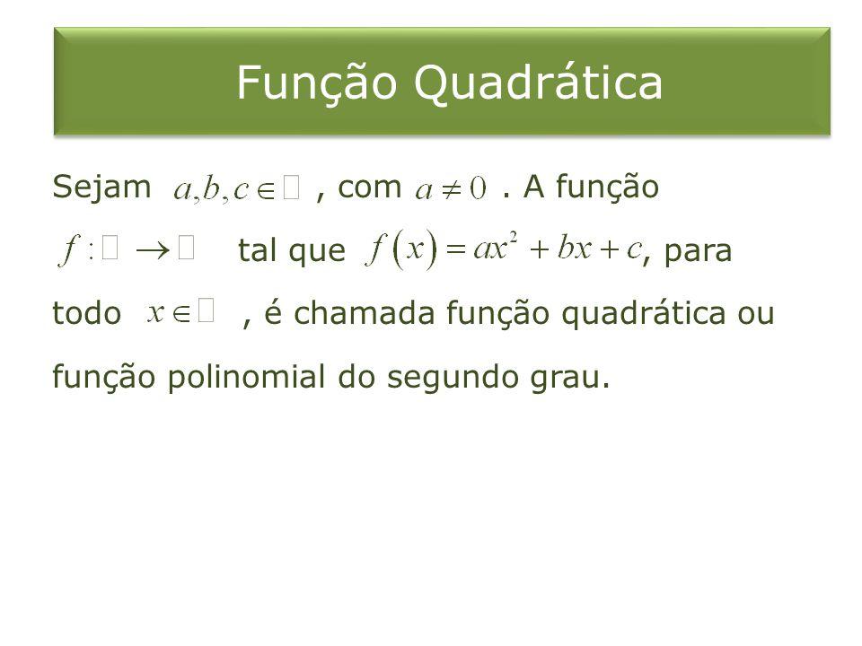 Função Quadrática Sejam, com.
