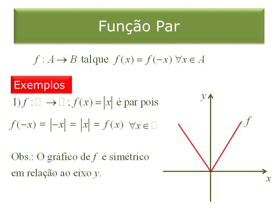 Função Par Exemplos