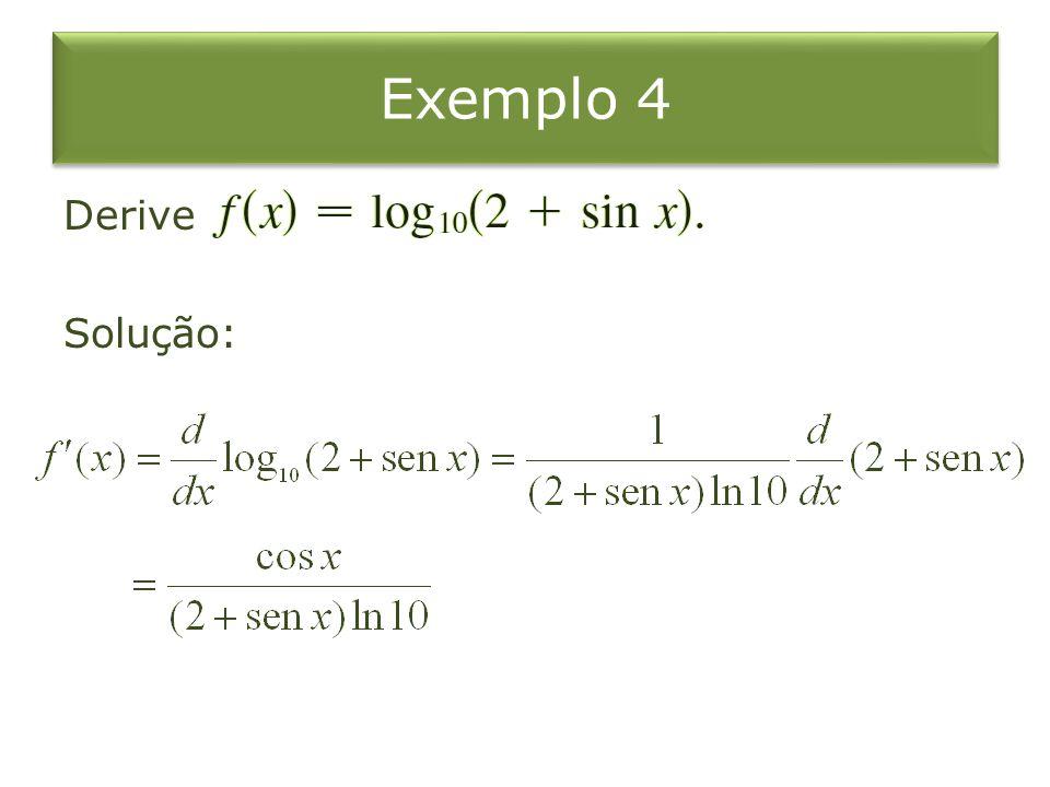 Exemplo 4 Derive Solução: