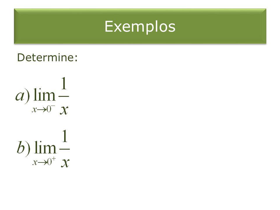 Exemplos Determine: