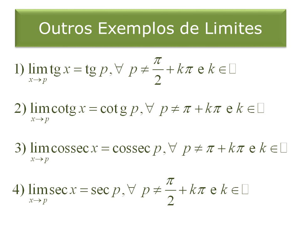 Outros Exemplos de Limites