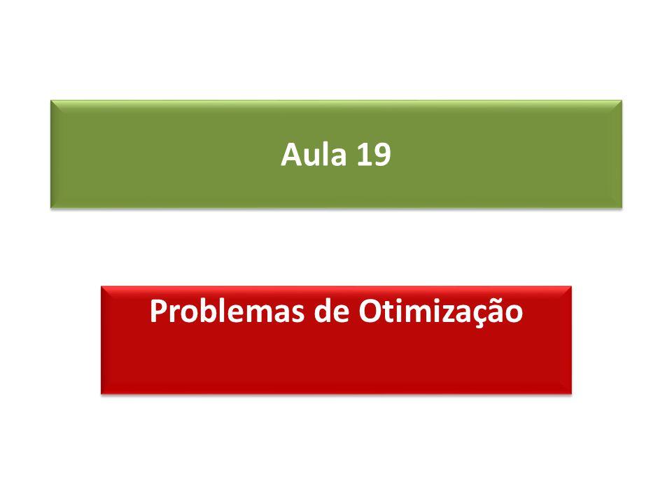 Aula 19 Problemas de Otimização