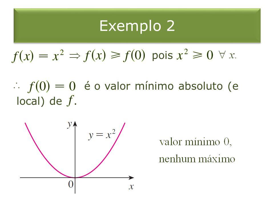 Solução se ou (são os únicos números críticos e estão no intervalo ). Note que