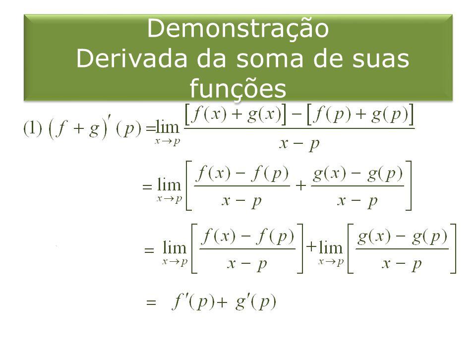 Calcule a derivada de. Solução1: